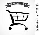 shopping cart sign icon  vector ... | Shutterstock .eps vector #450992143