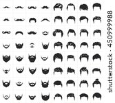 hipster vector set hair and... | Shutterstock .eps vector #450999988