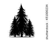 dead  tree  branch silhouette ... | Shutterstock .eps vector #451000234