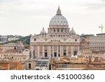 landscape of rome  angels... | Shutterstock . vector #451000360