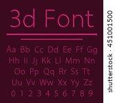 volumetric font  3d line letter ... | Shutterstock .eps vector #451001500
