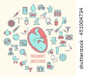 pregnant and obstetrics concept ... | Shutterstock .eps vector #451004734