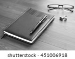 business accessories on desktop ... | Shutterstock . vector #451006918