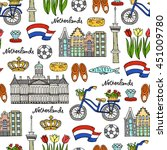 vector seamless pattern with... | Shutterstock .eps vector #451009780