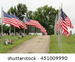 Patriotic Flag Display At...