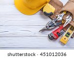 set of construction tooling in... | Shutterstock . vector #451012036