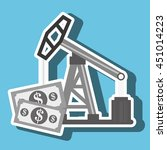 oil and bills isolated icon... | Shutterstock .eps vector #451014223