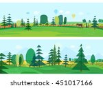 eco style life. abstract forest.... | Shutterstock .eps vector #451017166