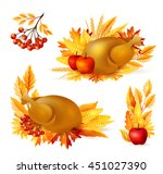 thanksgiving design elements.... | Shutterstock .eps vector #451027390