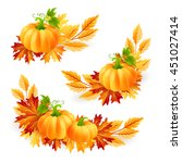 thanksgiving design elements.... | Shutterstock .eps vector #451027414