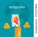 shopping online concept...   Shutterstock .eps vector #451027864