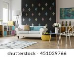 spacious living room with... | Shutterstock . vector #451029766