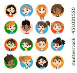 kids avatar collection. pupils... | Shutterstock .eps vector #451031530