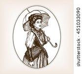 Vintage Lady Sketch Style...