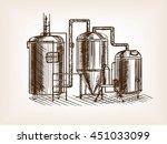 beer brewing sketch style... | Shutterstock .eps vector #451033099