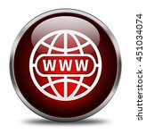 website button isolated on... | Shutterstock . vector #451034074