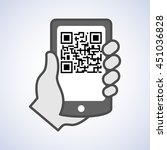 qr code scanning with mobile... | Shutterstock .eps vector #451036828