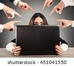 bullying on the web | Shutterstock . vector #451041550