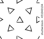 hand drawn vector seamless... | Shutterstock .eps vector #451043134
