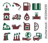 gasoline  gas  oil icon set | Shutterstock .eps vector #451044250