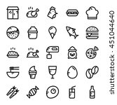 food vector icons 6 | Shutterstock .eps vector #451044640