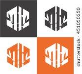 bamboo vector icon. spa.logo | Shutterstock .eps vector #451050250