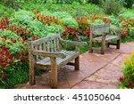 The Bench In The Flower Garden.