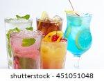 summer drinks | Shutterstock . vector #451051048