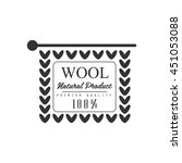 wool black and white product... | Shutterstock .eps vector #451053088