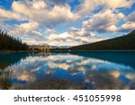 chateau at lake louise in banff ... | Shutterstock . vector #451055998