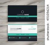 dark business card modern design | Shutterstock vector #451056214