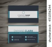 elegant business card template | Shutterstock .eps vector #451056244