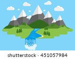 vector nature landscape with... | Shutterstock .eps vector #451057984