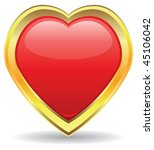 vector heart golden design | Shutterstock .eps vector #45106042