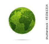 world globe shape of green...