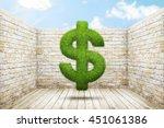 Dollar Gign Shape Of Green...