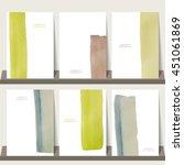 light green blue watercolor... | Shutterstock .eps vector #451061869