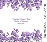 Lavender Card With Flowers In...