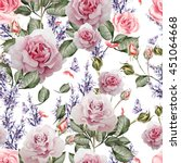 beautiful watercolor pattern... | Shutterstock . vector #451064668