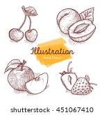 hand drawn illustrations fruits | Shutterstock . vector #451067410
