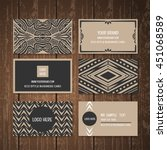 eco style business card... | Shutterstock .eps vector #451068589