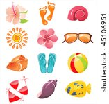 summer time icons | Shutterstock .eps vector #45106951