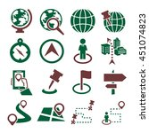 location  place icon set | Shutterstock .eps vector #451074823