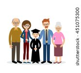 big family with the child... | Shutterstock .eps vector #451075300