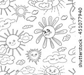 coloring  book.seamless... | Shutterstock .eps vector #451077940