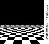 Empty Interior With Checkered...