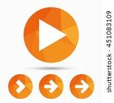 arrow icons. next navigation...   Shutterstock .eps vector #451083109