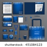 blue corporate identity...   Shutterstock .eps vector #451084123