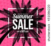 summer sale with palm on... | Shutterstock .eps vector #451086220