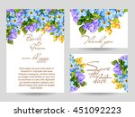 romantic invitation. wedding ...   Shutterstock . vector #451092223